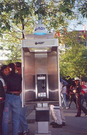 "I haven't seen a phone booth with a cowboy hat on top before!</BR>Sent in by: Acidic Tear</BR><span class=""date-display-single"" property=""dc:date"" datatype=""xsd:dateTime"" content=""1996-07-13T00:00:00+00:00"">Jul 13, 1996</span>"