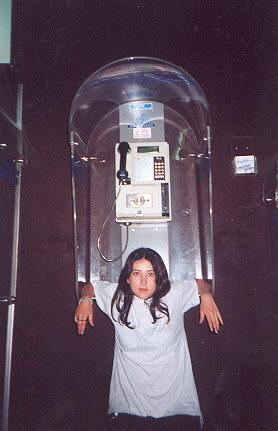 "Vionne in front of Israeli payphone.</BR></BR><span class=""date-display-single"" property=""dc:date"" datatype=""xsd:dateTime"" content=""1997-06-06T00:00:00+00:00"">Jun 06, 1997</span>"
