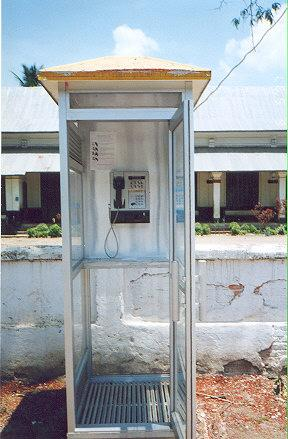 "There are fewer than 20 public phoneboothes in Laos.  This may be the only public phonebooth in Luang Phrabang.  The major cities have telephone offices, where it is possible to make IDD calls.</BR>Sent in by: Tommy the tourist</BR><span class=""date-display-single"" property=""dc:date"" datatype=""xsd:dateTime"" content=""1997-06-05T00:00:00+00:00"">Jun 05, 1997</span>"